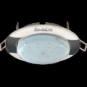 """led светильники потолочные встроенные Ecola GX53 H4 светильник встраив. без рефл. """"Волна"""" жемчуг-черный хром 38x116 (к+)"""