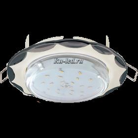 """светильники ecola купить Ecola GX53 H4 светильник встраив. без рефл. """"Звезда"""" жемчуг-черный хром 38x116 (к+)"""