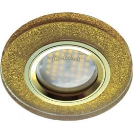 точечные диодные светильники Ecola MR16 DL1650 GU5.3 Glass Стекло Круг Золотой блеск / Золото 25x95 (кd74)