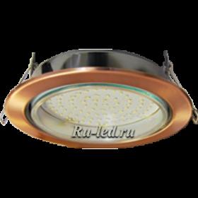 встроенный светильник в потолок, чтобы визуально расширить пространство Ecola GX70-H5 светильник встраив. без рефл. Черненая медь 53x151 (кd135)