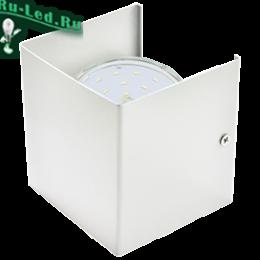 Ecola GX53-N51 светильник настенный бра прямоугольный матовый белый 1* GX53 100х100х90 (1 из цв. уп. по 2) светильник встр gX53 приносят комфорт и уют в помещения