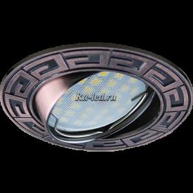 Светодиодные точечные светильники для натяжных потолков цена Ecola MR16 DL110 GU5.3 Светильник встр. литой поворотный Антик Черненая Медь 24x86