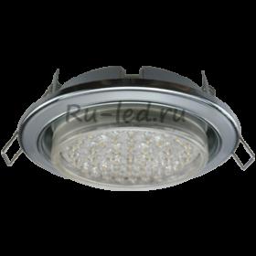 точечные светильники для натяжных потолков цена Ecola GX53 H4 светильник встраив. без рефл. 2 цв. хром-серебро-хром 38х106 (к+)