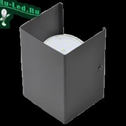 светильники на стену фото можно найти на сайте нашего магазина на любой вкус и кошелек Ecola GX53-N52 светильник настенный бра прямоугольный матовый черный 2* GX53 100х140х90 (1 из цв. уп. по 2)