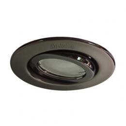 Ecola GU10 FT3008 светильник встраиваемый поворотный сатин-хром 40x105