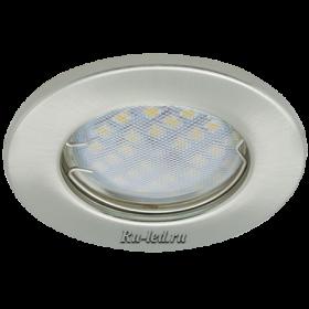 светодиодные точечный светильник цена Ecola Light MR16 DL90 GU5.3 Светильник встр. плоский Сатин-Хром 30x80 (кd74)