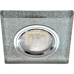 Точечные светильники хром Ecola MR16 DL1651 GU5.3 Glass Стекло Квадрат скошенный край Серебряный блеск / Хром 25x90x90 (кd74)