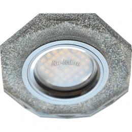 светодиодные светильники потолочные встраиваемые цена Ecola MR16 DL1652 GU5.3 Glass Стекло 8-угольник с прямыми гранями Серебряный блеск / Хром 25x90 (кd74)