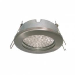 светильники для натяжных потолков в ванную Ecola MR16 DL80 GU5.3 светильник встр. защищенный IP65 сатин-хром 32x93