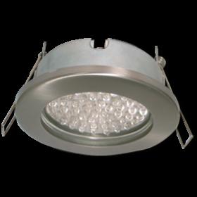 светильник потолочный встраиваемый gx53 недорого в интернет магазине Ecola GX53 H9 защищенный IP65 светильник встраив. без рефл. сатин-хром 98х55