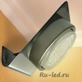 Led светильники потолочные накладные Ecola GX53-N82 светильник настенный угловой сатин-хром 52*130*111