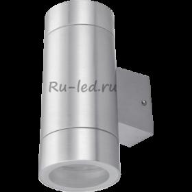 Купить светильник светодиодный потолочный Ecola GX53 LED 8013A светильник накладной IP65 прозрачный Цилиндр металл. 2*GX53 Cатин-хром 205x140x90