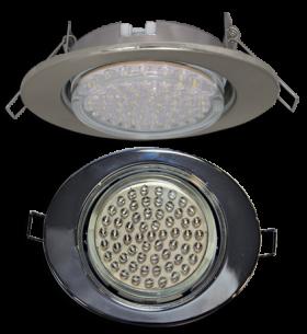 светильник встраиваемый gx53 Ecola GX53 FT3238 светильник встр. без рефл. Эллипс сатин-хром 41x126x106 (к+)