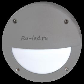 уличные точечные светодиодные светильники Ecola GX53 LED B4140S светильник накладной IP65 матовый Круг с ресничкой алюмин. 1*GX53 Серый 145x145x65