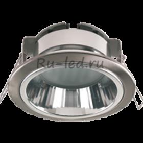 Светильник gx53 размеры подойдут для натяжных или подвесных потолков Ecola GX53 H2R Downlight with reflector_satin chrome (светильник) 58x125