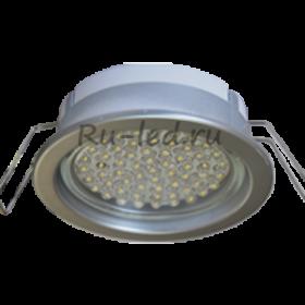 офисные светодиодные светильники Москва Ecola GX53 PD Светильник Встраиваемый глубокий легкий Серебро 31x95