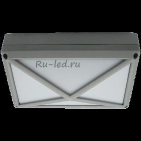 купить светодиодный светильник цена Ecola GX53 LED B4157S светильник накладной IP65 матовый Прямоугольник/Пирамида алюмин. 2*GX53 Серый 215x135x85