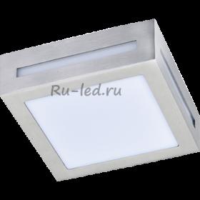 купить светильники люминесцентные потолочные для гаража Ecola GX53 LED 3082W светильник накладной IP65 матовый Квадрат металл. 1*GX53 Cатин-хром 136x136x55