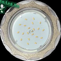 Узнайте у нас, какие бывают типы встраиваемых светильников Ecola GX53 H4 DL3902 светильник встраив. без рефл. Звезда под стеклом Серебряный блеск / хром 106х38 (к+)