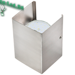 светильник со стены станет стильной изюминкой вашего интеьера Ecola GX53-N52 светильник настенный бра прямоугольный сатин-хром 2* GX53 100х140х90 (1 из цв. уп. по 2)