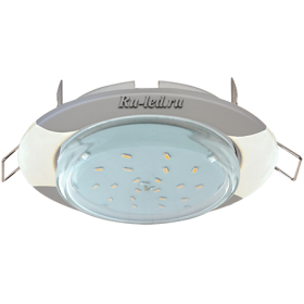 """купить светодиодный светильник цена Ecola GX53 H4 светильник встраив. без рефл. """"Волна"""" серебро-жемчуг 38x116 (к+)"""