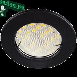 светильники потолочные встраиваемые в потолках впишутся в пространства и малого, и большого размера Ecola Light MR16 DL90 GU5.3 Светильник встр. плоский Черный матовый 30x80 - 2pack (кd74)