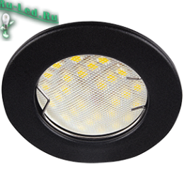 светильники для натяжных потолков на кухне не привлекает к себе лишнего внимания Ecola Light MR16 DL92 GU5.3 Светильник встр. выпуклый Черный матовый 30x80 (кd74)