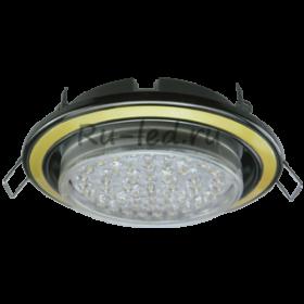 встроенные диодные светильники Ecola GX53 H4 светильник встраив. без рефл. 2 цв. черный хром-золото-черный хром 38х106 (к+)