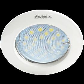 встраиваемые светильники цена Ecola MR16 DL100 GU5.3 Светильник встр. литой Белый 24x75