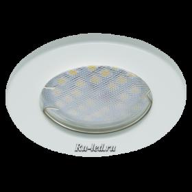 точечные светильники светодиодные потолочные встраиваемые цена Ecola Light MR16 DL90 GU5.3 Светильник встр. плоский Белый 30x80 (кd74)