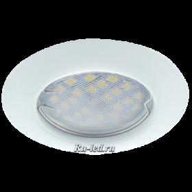 светильник точечный светодиодный встраиваемый цена Ecola Light MR16 DL92 GU5.3 Светильник встр. выпуклый Белый 30x80 (кd74)