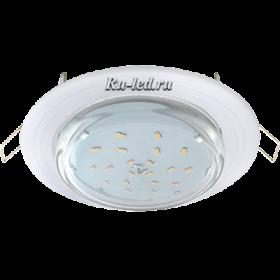 """светильник под лампу gx53 Ecola GX53 H4 светильник встраив. без рефл. """"2 круга"""" Белый 43x115 (к+)"""