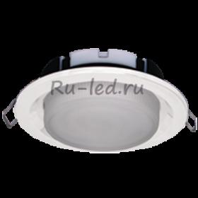 купить светильник в коридор потолочный Ecola GX53 FT3225 светильник встраиваемый глубокий легкий белый 27x109