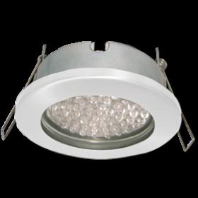 светильник светодиодный потолочный встраиваемый для ванной Ecola GX53 H9 защищенный IP65 светильник встраив. без рефл. белый 98х55