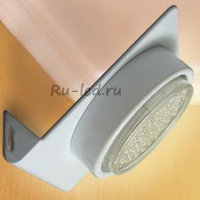 Светильник светодиодный офисный накладной Ecola GX53-N82 светильник настенный угловой белый 52*130*111