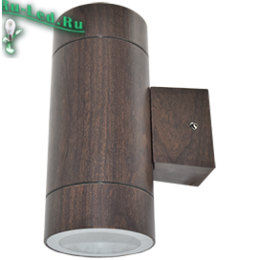 Ecola GX53 LED 8013A светильник накладной IP65 прозрачный Цилиндр металл. 2*GX53 Темное дерево 205x140x90