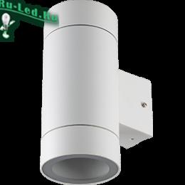 Светильник ЖКХ IP65 может гармонично вписаться в любое интерьерное решение Ecola GX53 LED 8013A светильник накладной IP65 прозрачный Цилиндр металл. 2*GX53 Белый матовый 205x140x90
