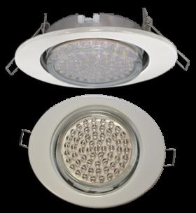 точечные светильники на кухне Ecola GX53 FT3238 светильник встр. без рефл. Эллипс белый 41x126x106 (к+)