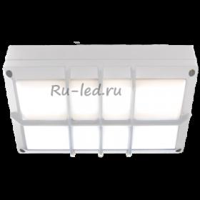 мебельные светильники накладные Ecola GX53 LED B4158S светильник накладной IP65 матовый Прямоугольник с решеткой алюмин. 2*GX53 Белый 215x135x65