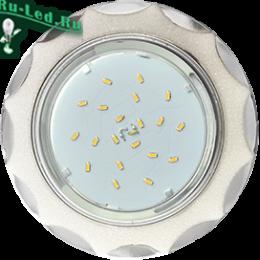 встраиваемый светильник gx53 h4 станет для вас лучшим выбором Ecola GX53 H4 DL3902 светильник встраив. без рефл. Звезда под стеклом Белый блеск / хром 106х38 (к+)