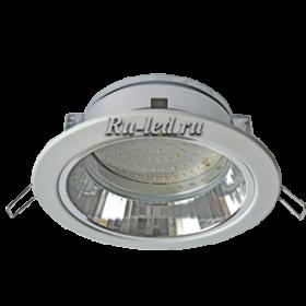 встроенные светильники для ванной, благодаря простому дизайну, не привлекают к себе лишнего внимания. Ecola GX70-H6R светильник белый встр. с рефл. 65x171