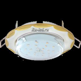 """светильник точечный встраиваемый фото цены Ecola GX53 H4 светильник встраив. без рефл. """"Звезда"""" жемчуг-золото 38x116 (к+)"""