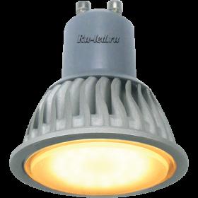 цоколь gu10 идеально подходит для установки во встраиваемые точечные светильники Ecola Reflector GU10 LED 7,0W 220V золотистый (ребристый алюм. радиатор) 56x50