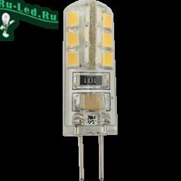 диодные лампы g4 незаменимы при организации подсветки Ecola G4 LED 3,0W Corn Micro 220V 2800K 320° 40x15