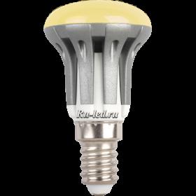 Лампа форма груша сделает интерьер более уютным Ecola Reflector R39 LED 4,0W 220V E14 золотистый (ребристый алюм. радиатор) 70x39