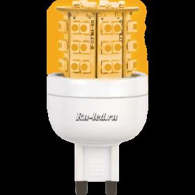 лампы g9 цена позволяют снизить расход электроэнергии на 85% Ecola G9 LED Premium 3,6W 220V золотистый 300° 64x32