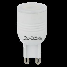 Светодиодная лампа g9 теплый даст вам возможность бесперебойно использовать изделие в течение нескольких месяцев Ecola G9 LED 3,3W Ceramic Mini 220V 2800K 180° (керамика) 49x23