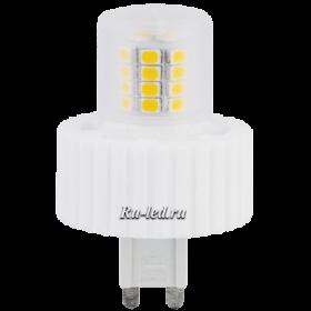лампа светодиодная g9 7w способна качественно освещать значительные площади Ecola G9 LED Premium 7,5W Corn Mini 220V 2800K 300° (керамика) 61x40