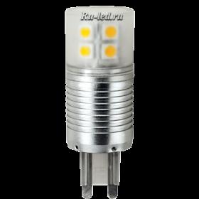 цоколь g9 купить способны удовлетворить самых взыскательных покупателей Ecola G9 LED Premium 4,1W Corn Mini 220V 4200K 300° (алюм. радиатор) 65x23