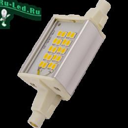 замена ламп в прожекторе не вызовет у вас затруднений Ecola Projector LED Lamp Premium 6,0W F78 220V R7s 2700K (алюм. радиатор) 78x20x32